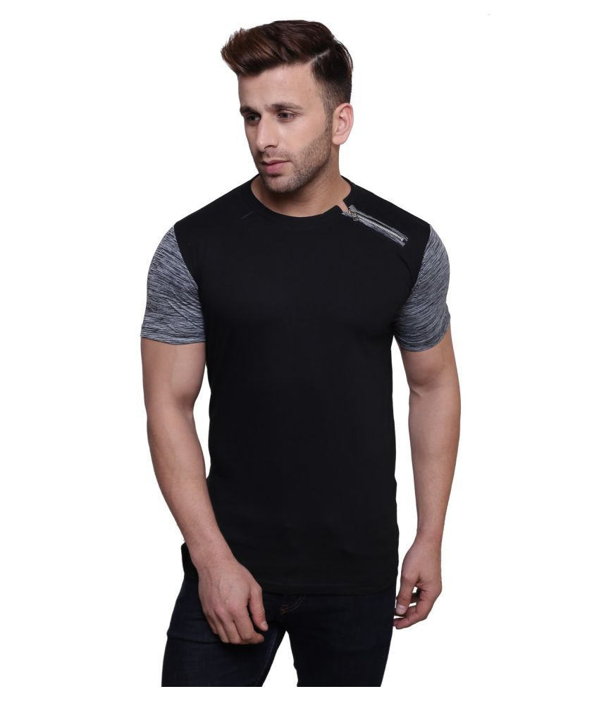 Darwin Black Round T-Shirt