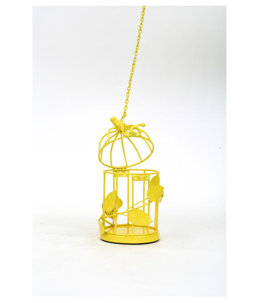 deziworkz home-garden-decor yellow cage small: buy deziworkz home