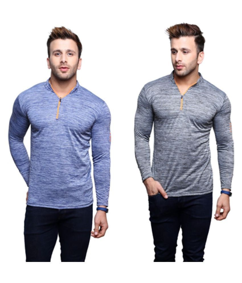 Darwin Multi V-Neck T-Shirt Pack of 2