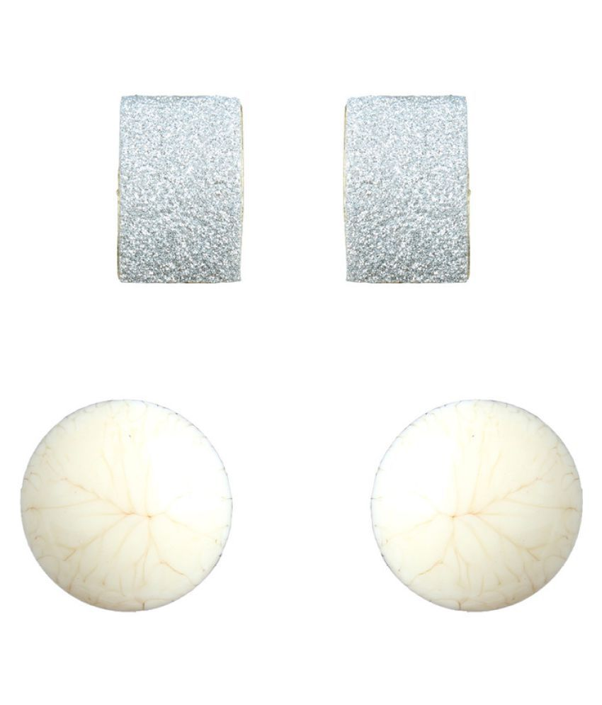 Waama Jewels Multicolor Stud Earrings - Pack of 2