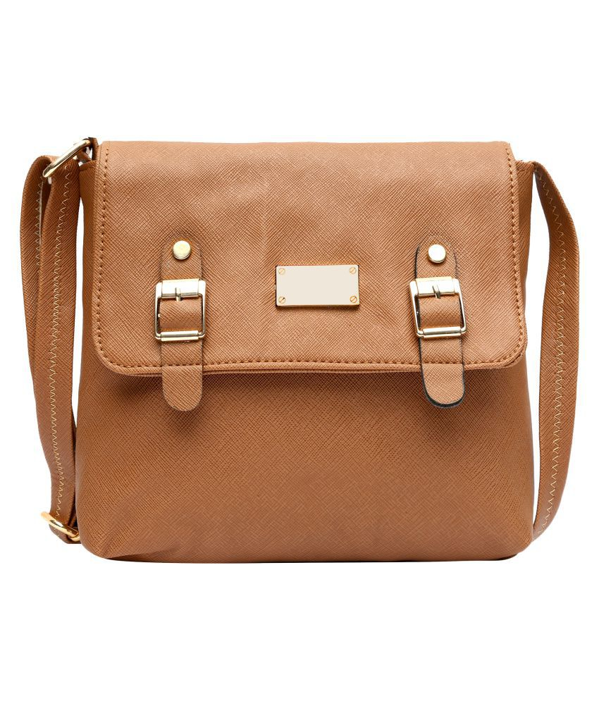 Hawai Brown P.U. Sling Bag