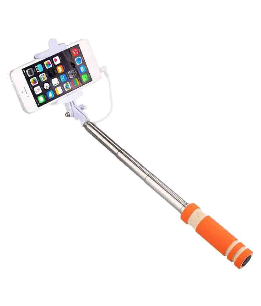 m stark aux wire selfie stick orange selfie sticks accessories onli. Black Bedroom Furniture Sets. Home Design Ideas