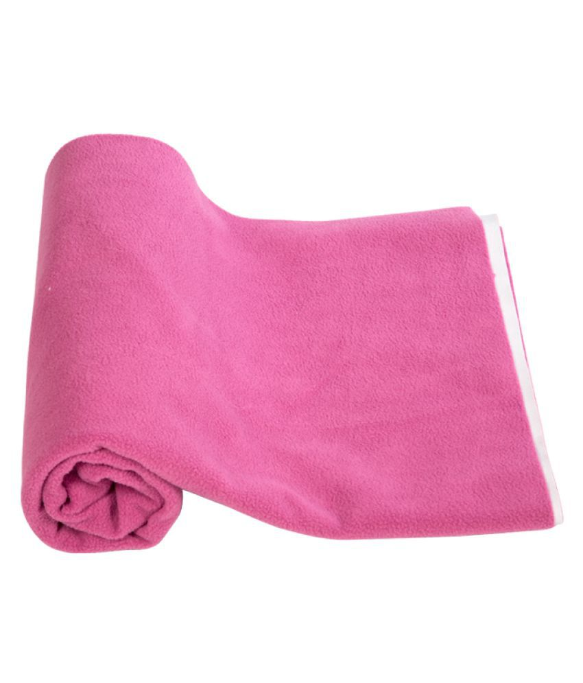 Mee Mee Pink Poly Cotton Quick Dry sheet ( 21 cm × 5 cm)