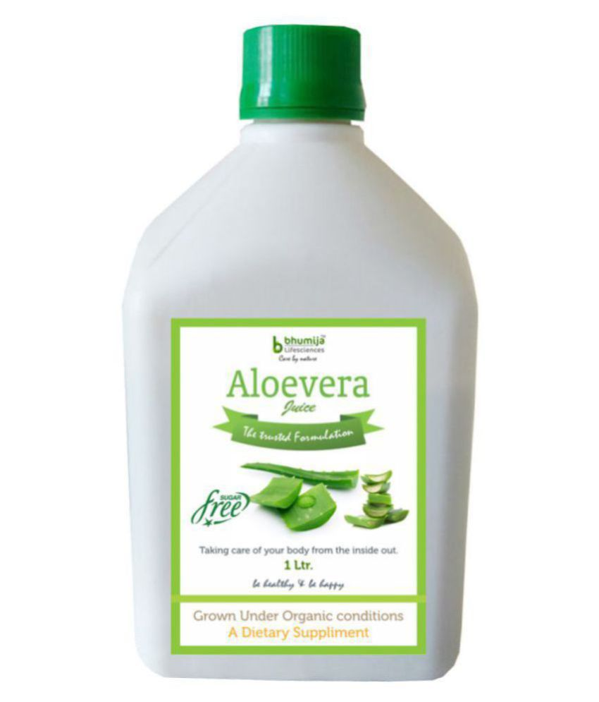 BHUMIJA LIFESCIENCES Aloevera Fiber Rich Juice Health Drink Liquid 1 l