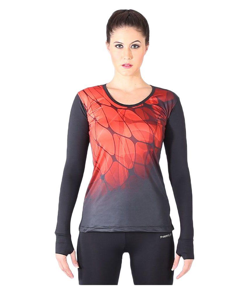 Champ Branded Freestyle Women MultiSport Wear Fitness T Shirt