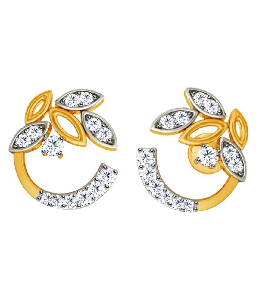 Jacknjewel 18k BIS Hallmarked Yellow Gold Diamond Studs