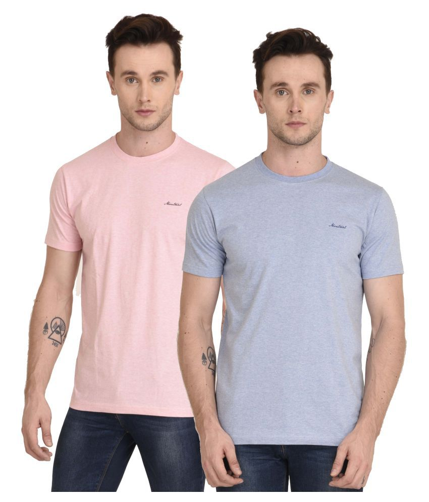 Montreal Multi Round T-Shirt Pack of 2