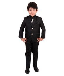 Arshia Fashions Boys Coat Suit with Shirt Pant and Tie For Kids