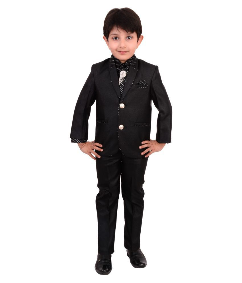 Arshia Fashions Boys Coat Suit with Shirt Pant and Tie For ...
