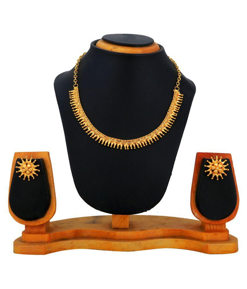 Eldrino Golden Necklace Set
