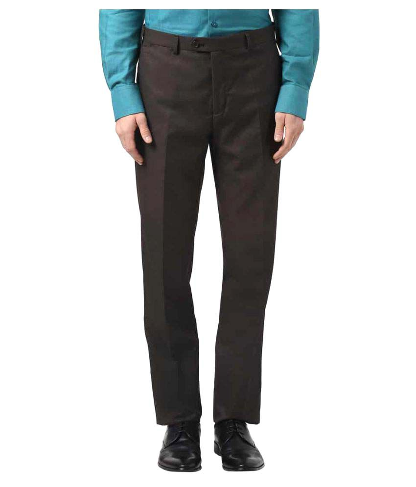 Raymond Brown Regular Flat Trousers