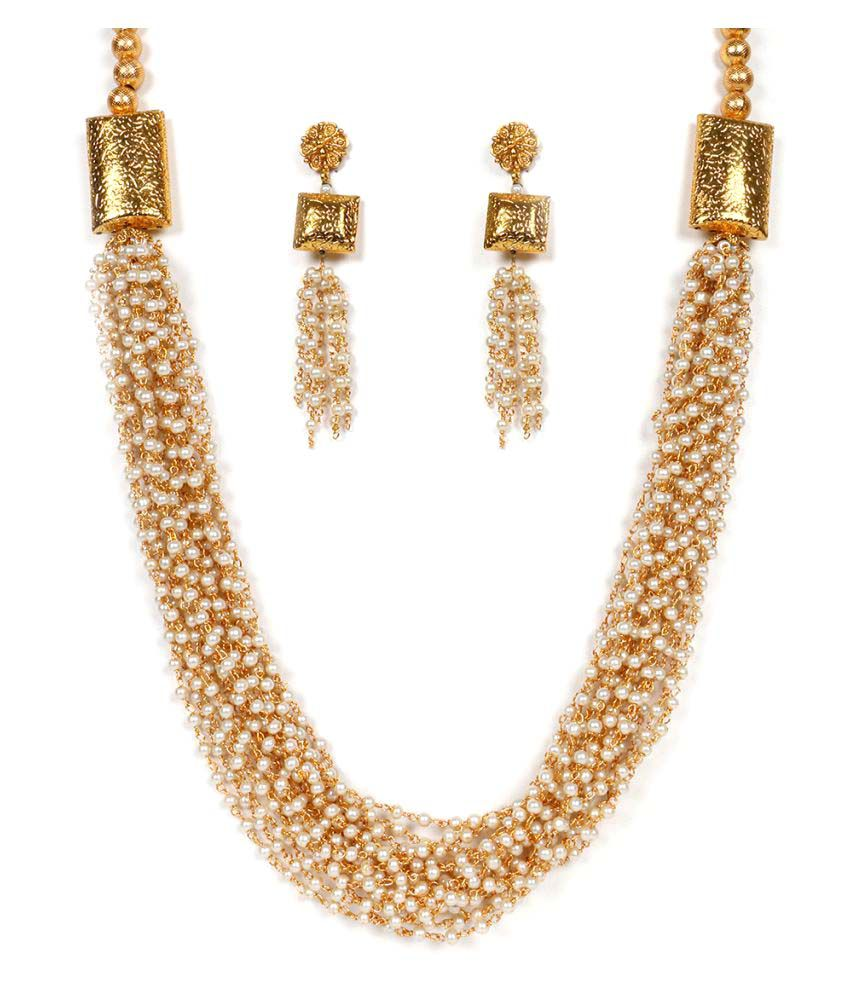 Krupam Golden Necklace Set