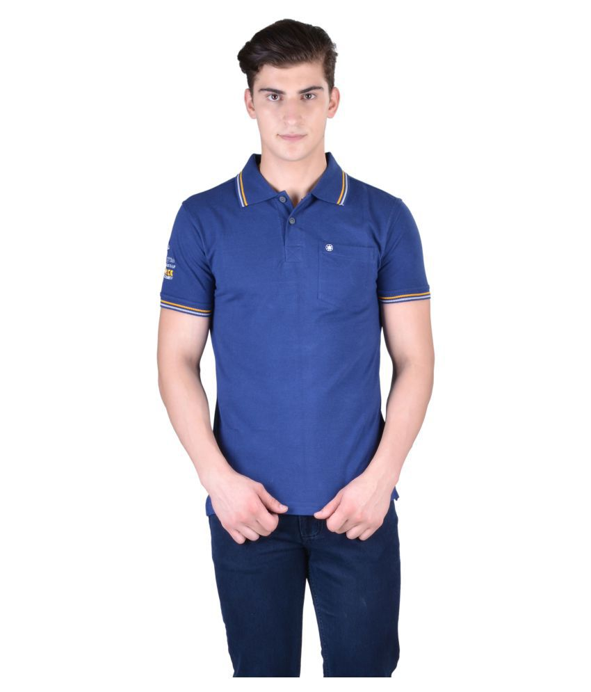 Force Go Wear Navy Cotton Polo T-Shirt Single Pack