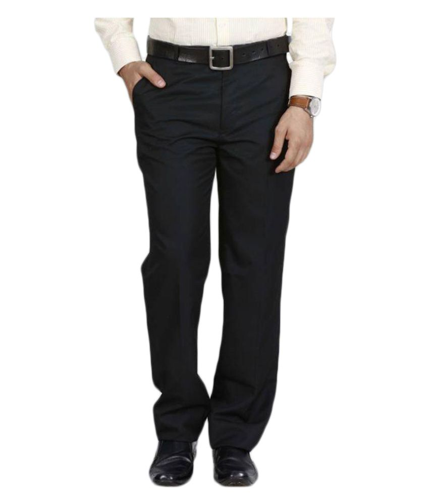 Mangal Black Regular Flat Trousers