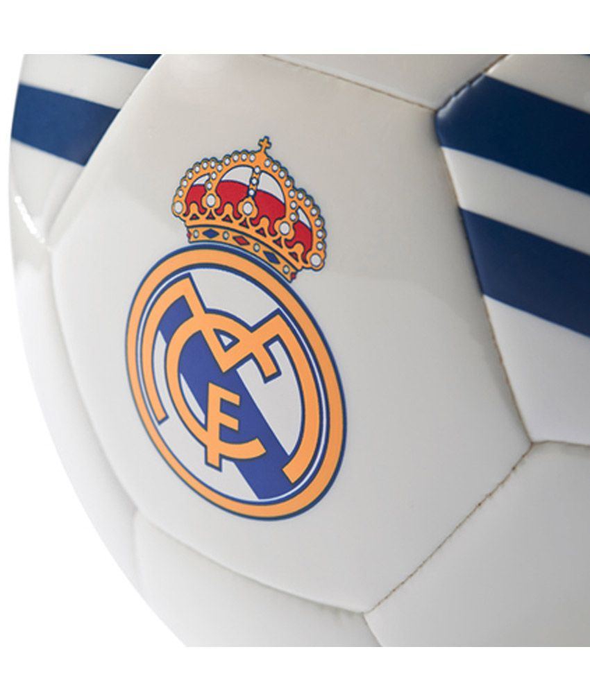 Adidas Real Madrid White Football   Ball Size- 5  Buy Online at Best ... 429920858