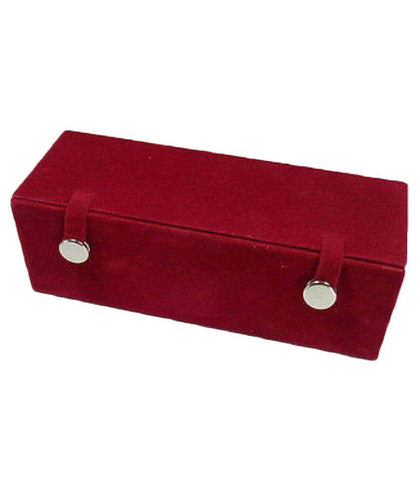 Mudra Industry 12 Pair Earrings Organizer Red Velvet Folding Jewellery Box