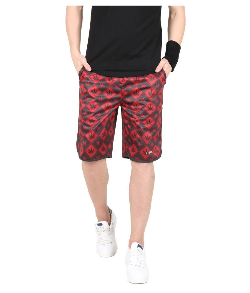Red & Black Crossfit Shorts