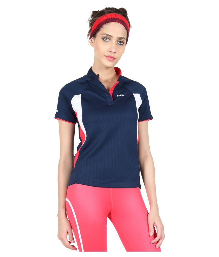 Yogue Navy Blue T-Shirt for Female
