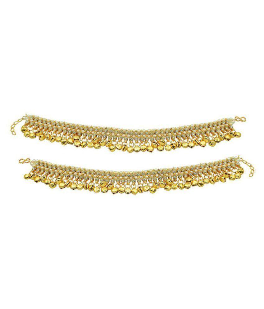 Jewels Gold Golden Anklet