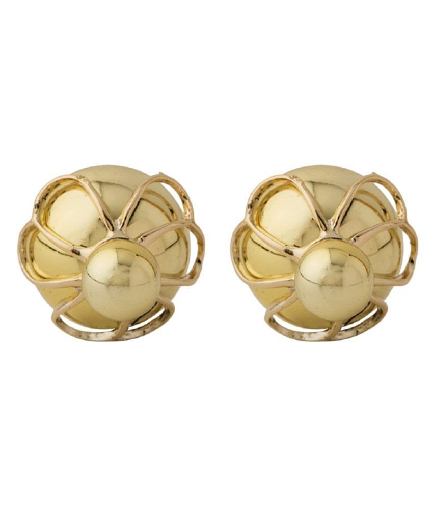 Voylla Golden Alloy Stud Earrings