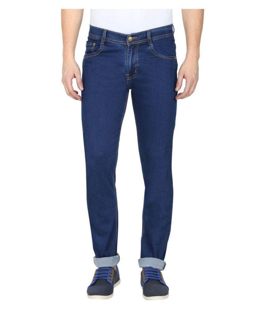 Gradely Indigo Blue Regular Fit Jeans