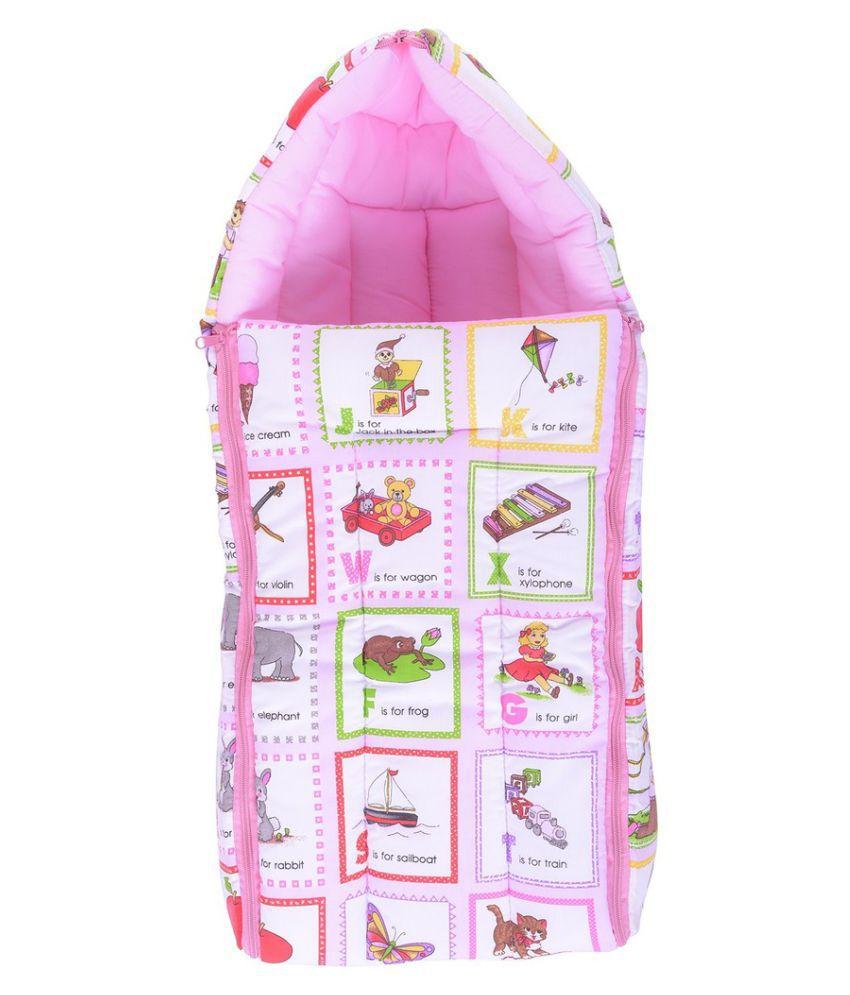 Kidzvilla Pink Cotton Baby Sleeping Bag
