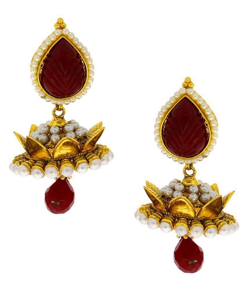 Anuradha Art Multicolour Alloy Hanging Earrings