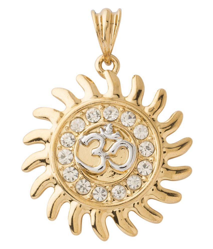 Dare Golden Brass Pendant
