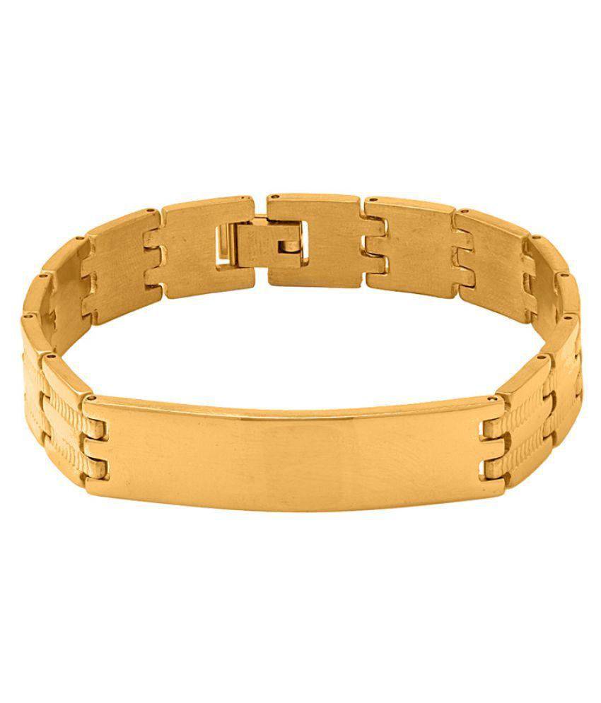 Dare Golden Stainless Steel Bracelet