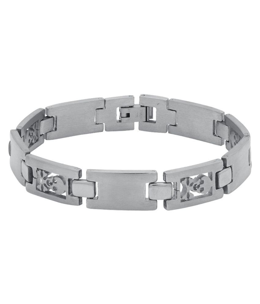 Dare Silver Stainless Steel Bracelet