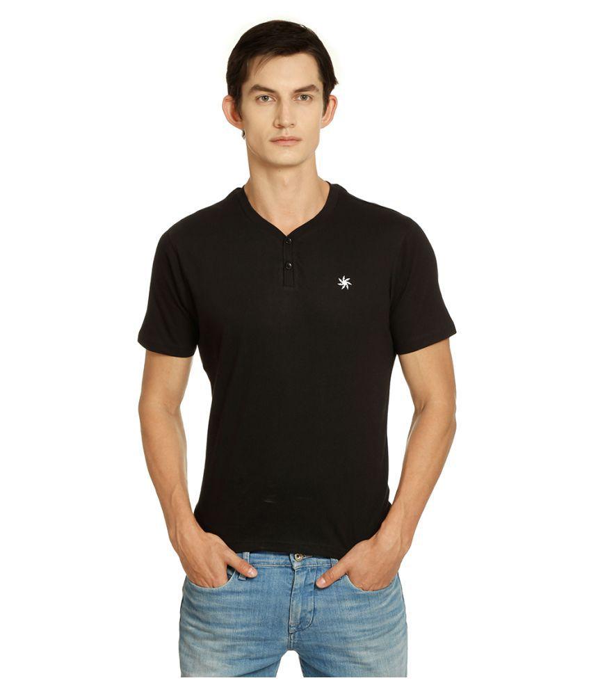 Zeven Black Cotton T-Shirt Single Pack
