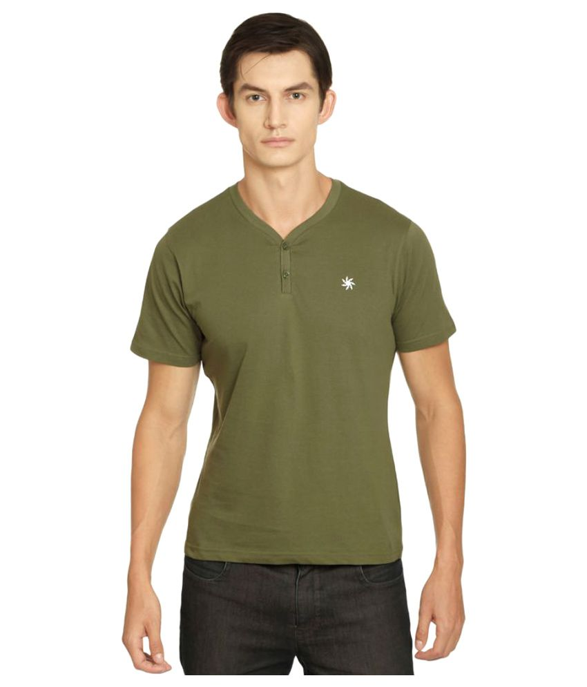 Zeven Green Cotton T-Shirt Single Pack