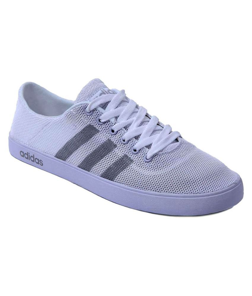 e3f178c04a7 Adidas Neo White Casual Shoes - Buy Adidas Neo White Casual Shoes Online at  Best Prices in India on Snapdeal