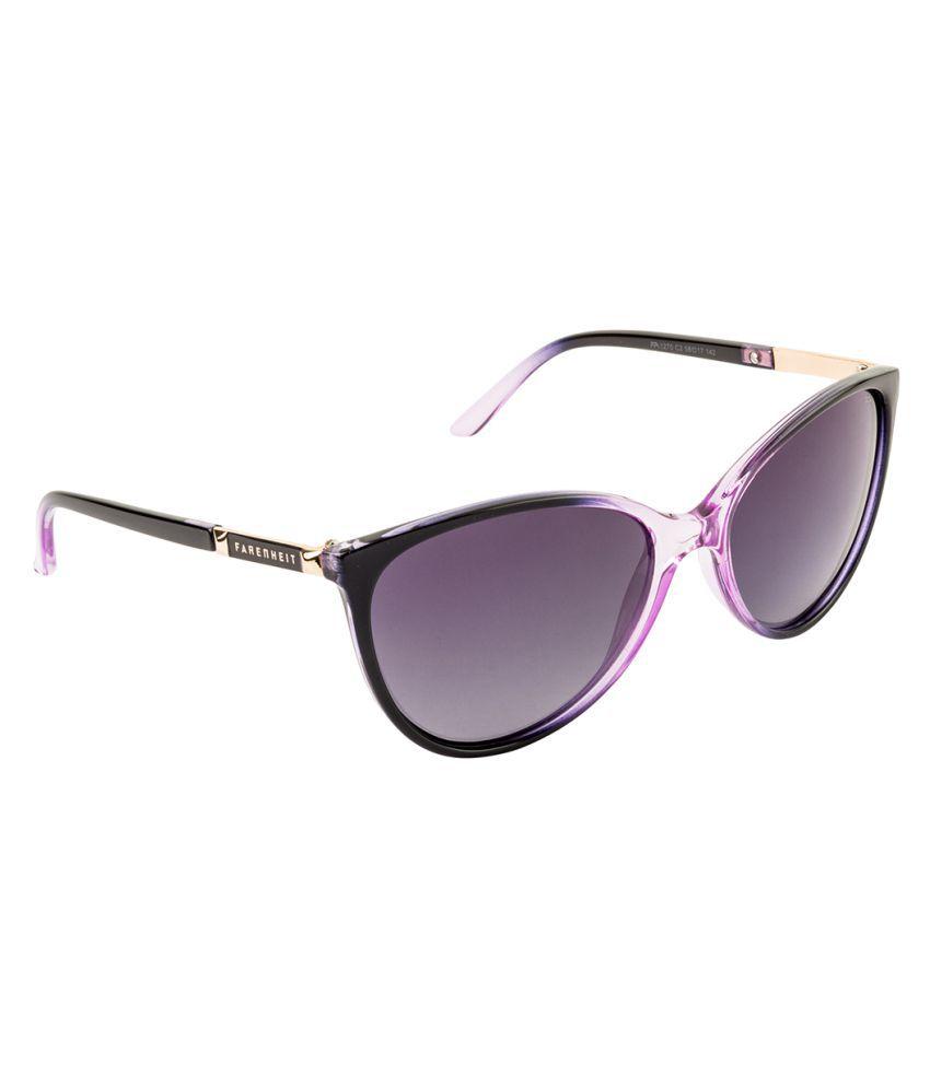 Farenheit Grey Cat Eye Sunglasses ( FA-1270-C2 )