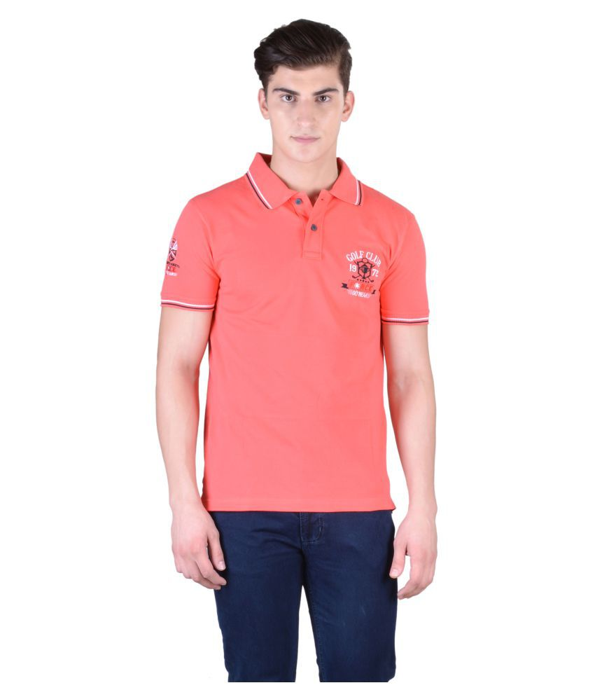 Force Go Wear Coral Cotton Polo T-Shirt Single Pack