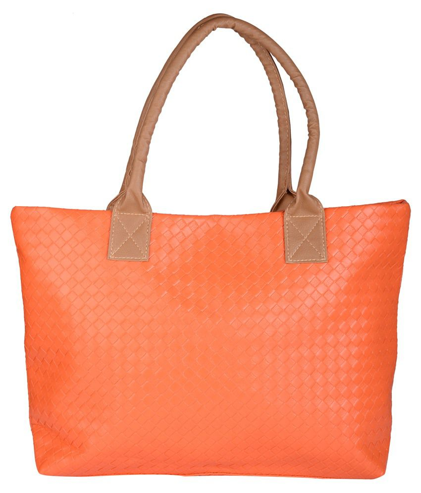 Skys&Ray Orange Rexin Shoulder Bag