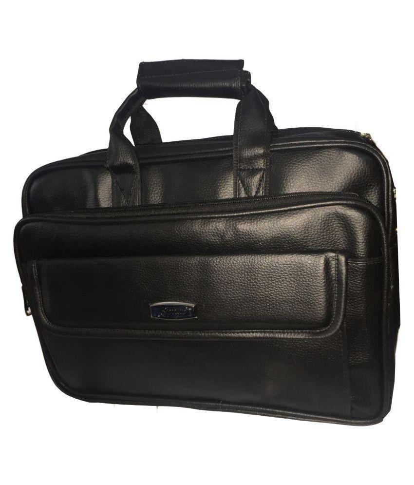 Apnav Black P.U. Office Bag