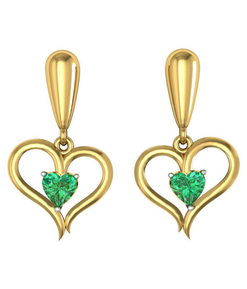 Suvarnadeep 92.5 Silver Swarovski Drop Earrings