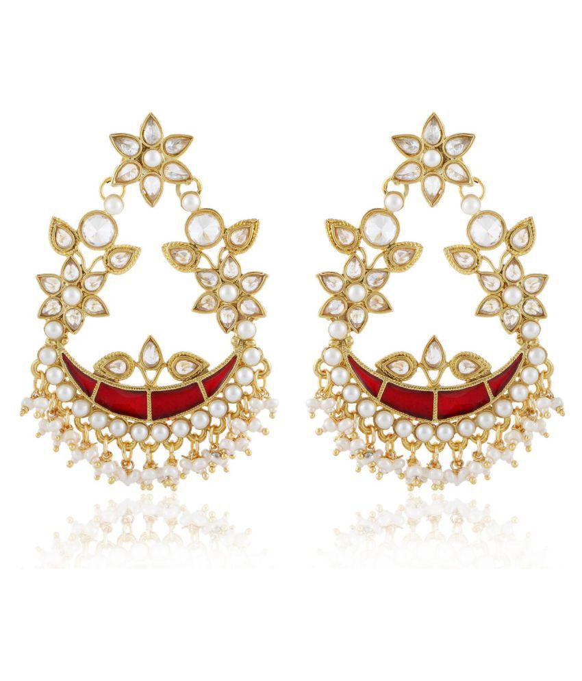 HB Arsya Jewellery Golden Chandeliers