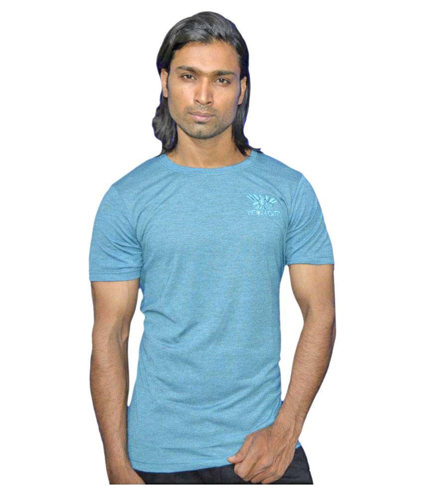 Smartwear Blue Round T-Shirt