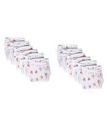 Baby Joy Pack Multicolor (3-6 Months) Cushioned Padded Hosiery Printed Double Cotton Thick Cloth Diaper/Langot Cushioned Padded Nappies Mini For New Just Born Pack Of 12