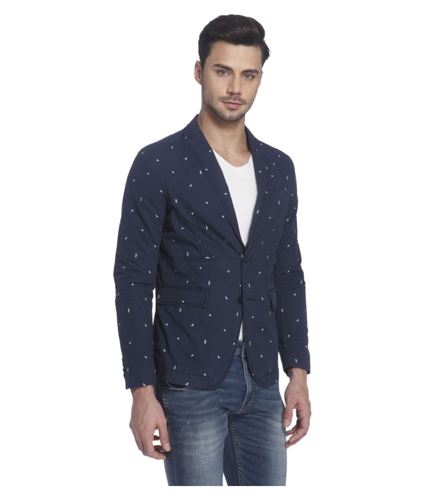 f219ba103ca5 Jack & Jones Blue Printed Casual Blazers - Buy Jack & Jones Blue Printed Casual  Blazers Online at Best Prices in India on Snapdeal