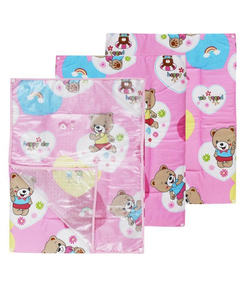Wonderkids 3 in 1 Teddy Print Changing Mat - Pink