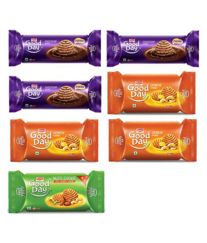 Britannia Party Pack Cookies Assorted 100 gm Pack of 7