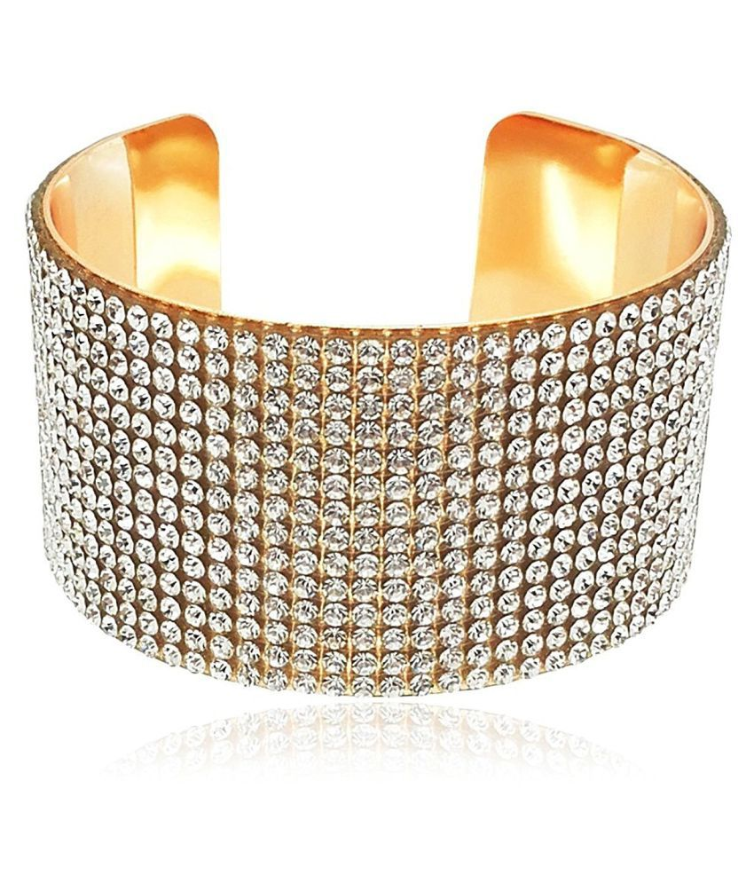 Youbella Jewellery Designer Crystal Studded Bangles Style Bracelets For S And Women