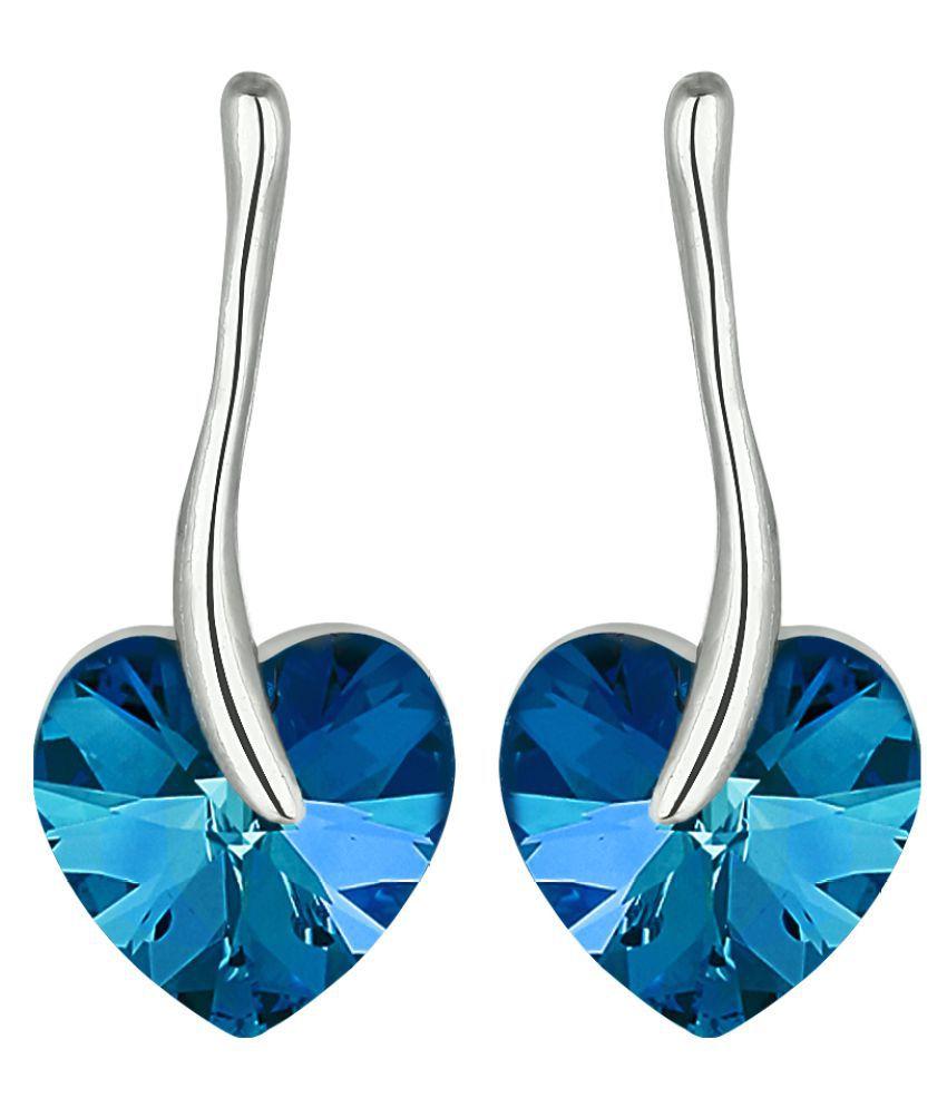 Jewels Galaxy Blue Alloy Hanging Earrings