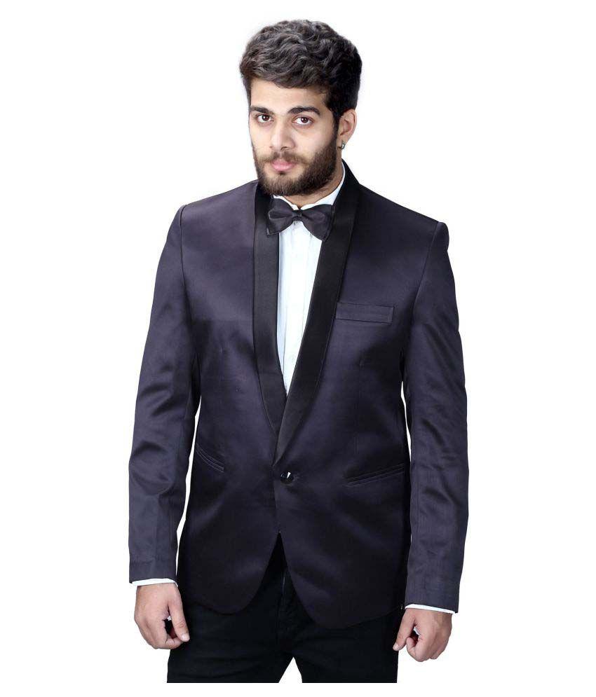Mark Estilo Black Solid Party Tuxedo