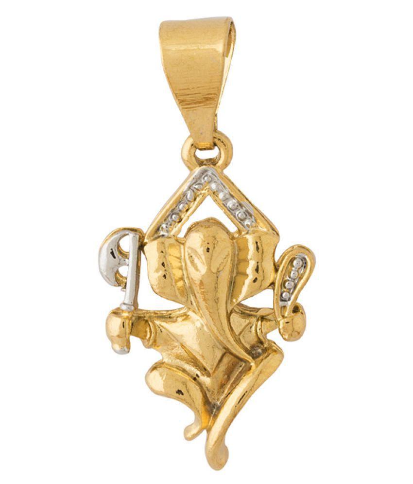 Dare Golden Brass and Copper Pendant