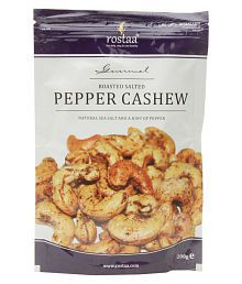 Rostaa Roasted Salted  Salted Cashew Nut (Kaju) Pepper Cashew, 200 Gm