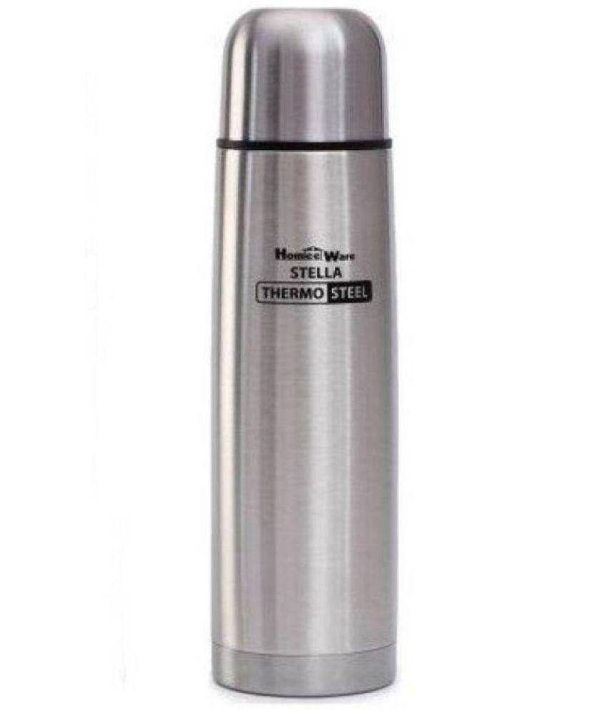 Stella Homeeware Grace Water Bottle Silver Steel Flask - 500